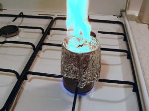 Si une flamme se forme, c'est prêt !