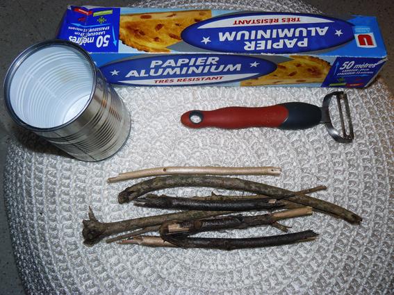 Ustensiles pour fabriquer du fusain