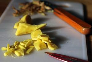 5 - Couper gingembre